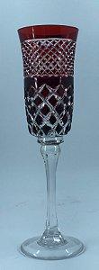 Taça p/ Champagne Vermelho