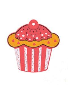Descanso p/ Panela Cupcake Vermelho