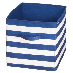 Caixa Organizadora Multiuso c/ Alças Azul e Branco