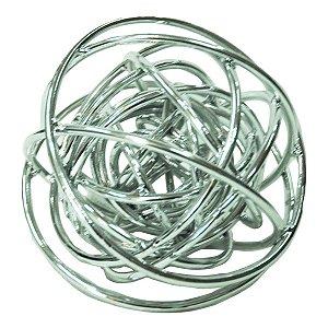 Esfera Metal Prateada 11,5cm