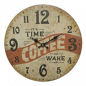 Relógio de Parede Coffee 33,8cm