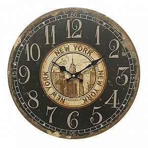 Relógio de Parede New York 33,8cm