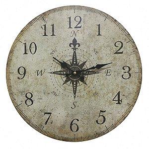 Relógio de Parede Pontos Cardeais