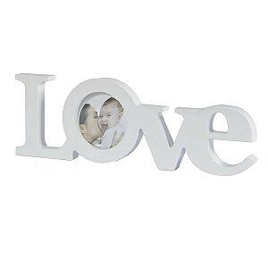 Porta Retrato Love Branco 6,5 X 6,5 CM