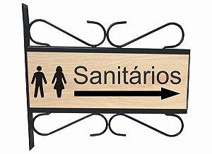 Placa Aramada Sanitários