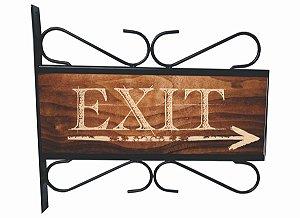Placa Aramada Exit