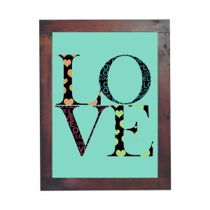 Quadro Azulejo Love
