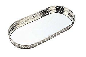 Bandeja Oval Espelhada 38cm