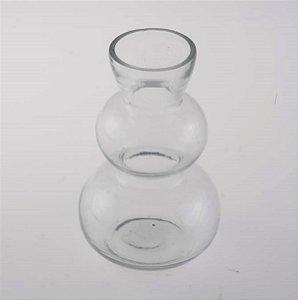 Castiçal Vaso Vela Vidro 10cm