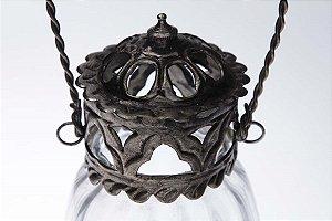 Lanterna Vidro Metal