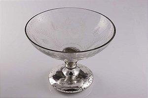 Taça de Vidro Decorativa 23cm