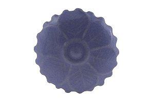 Puxador p/ Porta Cerâmica Azul 4cm