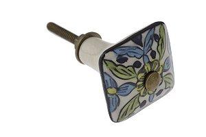 Puxador p/ Porta Cerâmica Quadrado