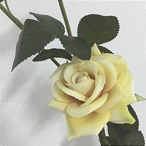 Flor Rosa Amarela c/ 3 Botões