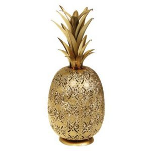 Abacaxi Decorativo Dourado 43 Cm