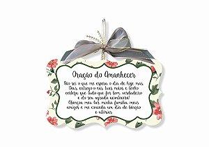 Placa Oração do Amanhecer