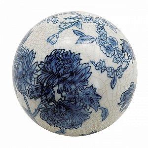 Bola Decorativa de Cerâmica Floral