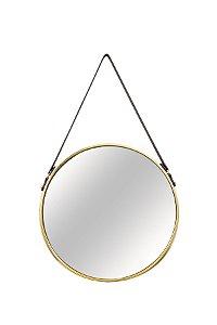 Espelho Redondo Dourado
