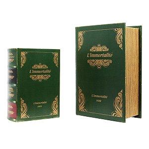 Jogo Caixa Livro Verde - 2 peças