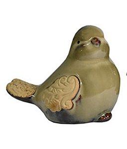 Pássaro Bege Decorativo