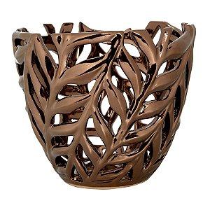 Vaso vazado bronze 15cm