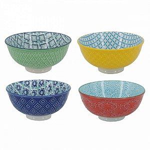 Conjunto de Bowls Colorido c/ 4