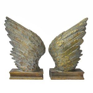 Conjunto suporte livros Wings