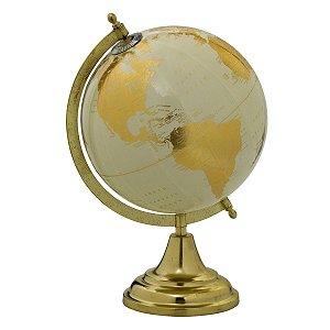 Globo Decorativo Branco e Dourado