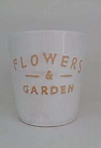 Vaso Flowers Branco