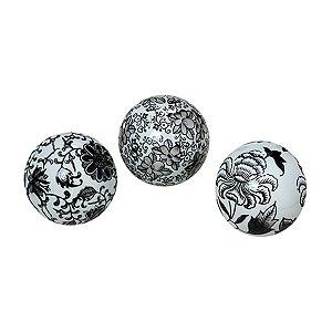 Conjunto com 03 bolas Preto e Branco