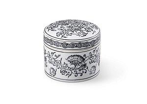Caixinha em Cerâmica Preto e Branco