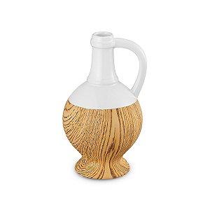 Jarro Cerâmica Branco 21cm