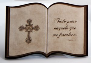 Livro decorativo Reflexões - Cruz