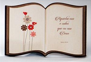 Livro decorativo Reflexões - Flores