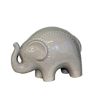 Elefante de Cerâmica Camurça P