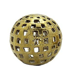 Bola Dourada Vazada