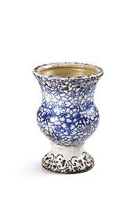 Vaso Azul e Branco Antique