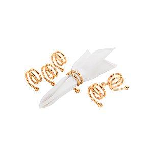 Conjunto 6 Anéis p/ Guardanapo Espiral Rose
