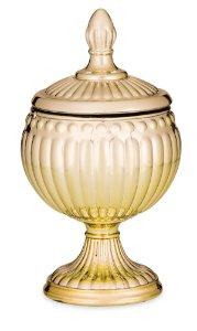 Pote vidro Dourado 15cm