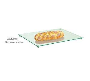 Prato Retangular Cristal 45 Cm
