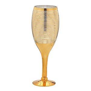 Vaso vidro Dourado 40cm