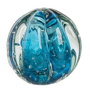 Bola Murano Decorativa Aquamarine