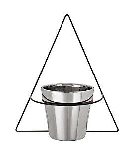 Vaso Prata 13cm c/ suporte