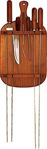 Jogo de churrasco em madeira