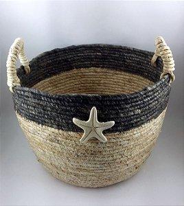 Cesto Seagrass c/ Estrela do Mar 35cm