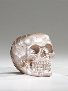 Caveira Skull Bege Crochê