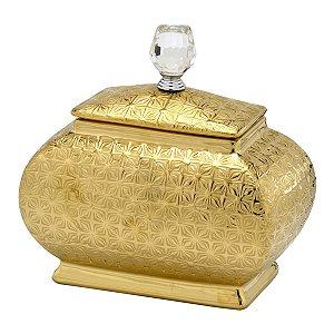 Pote Dourado Decorativo 22cm