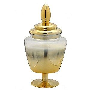 Pote de Vidro Dourado Decorativo 46cm