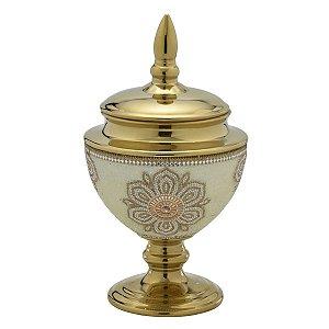 Pote Decorativo Dourado 31cm