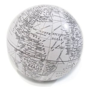 Bola Mapa Branco Decorativa